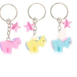 Claire's Other - 🦄 NWT 3 Pack Unicorn BFF Keychains 🦄