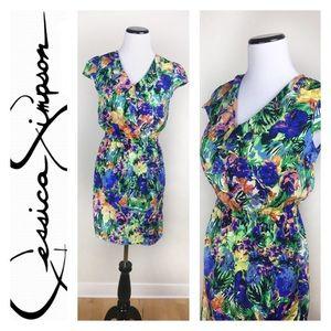 Jessica Simpson Dresses & Skirts - JESSICA SIMPSON TROPICAL FLOWERS MINI DRESS SZS
