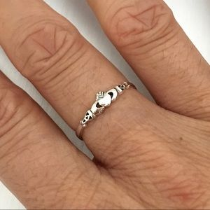 Jewelry - 💕💕TOP SELLER💕Sterling Silver Tiny Claddagh Ring