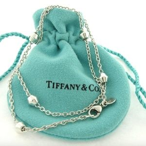 """Tiffany Extra Long 30"""" Barrel Sterling Necklace"""