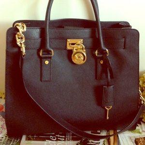 Michael Kors Handbags - MICHAEL KORS BLACK HAMILTON