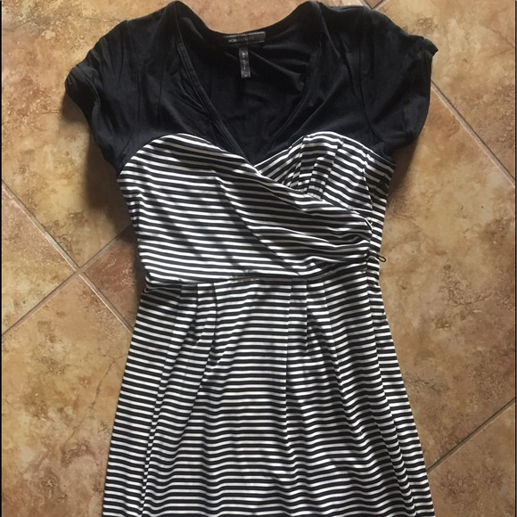 BCBG Dresses & Skirts - Stripe cap sleeve dress