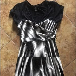 BCBG Dresses - Stripe cap sleeve dress