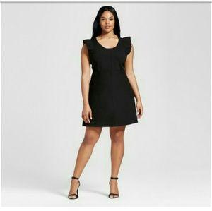 Victoria Beckham x Target Dresses & Skirts - NWT ~ Black Ruffle Sleeve Sweater Knit Dress