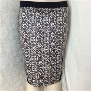 Plus size (1X 2X) Black Tube Skirt w/tribal print