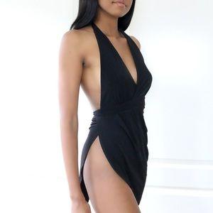 Jaded Affairs Dresses & Skirts - 🆕 Summer Goddess Halter Tie Mini Dress (Black)