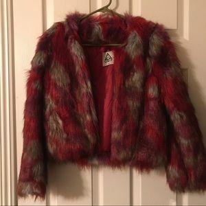 Unif faux fur jacket👽❤️🤘🏼