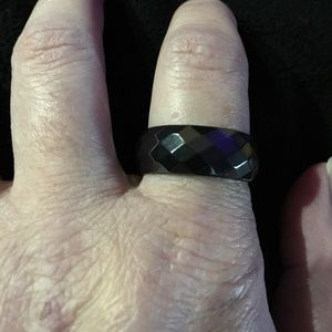 Jewelry - Therapeutic Solid Hematite Band Ring Size 10