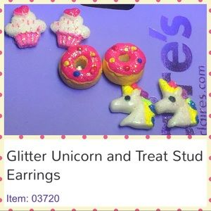 Claire's Other - 🦄 NWT 3 pairs of Unicorn & Treats Earrings 🦄