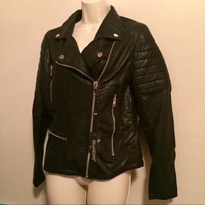 Blank NYC Jackets & Blazers - Blank NYC faux leather motorcycle jacket