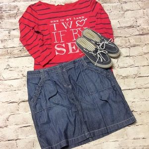 New York & Company Dresses & Skirts - 12 NEW YORK & COMPANY LIGHTWEIGHT CHAMBRAY SKIRT