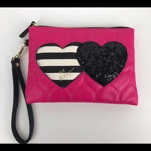 Betsey Johnson Handbags - Betsey Johnson Double The Love Hearts Wristlet