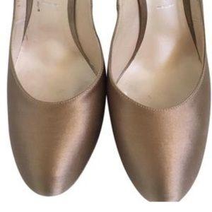 Casadei Shoes - Casadei Satin Bronze Heels
