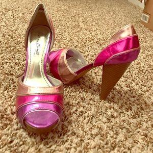 Anne Michelle Shoes - High heels- pink, purple color