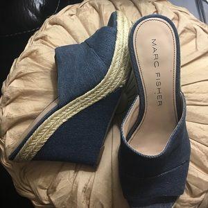 Marc Fisher Shoes - Marc Fischer Turnip Denim Wedges