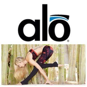 ALO Yoga Pants - NEW ALO Yoga Goddess leggings in volcano space/blk