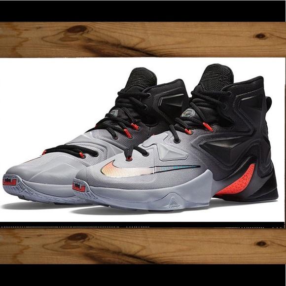 best sneakers 98f56 2bc1e 🏀NWT🏀Nike LeBron 13 Wolf Grey