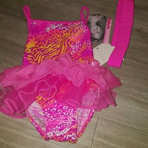 Flapdoodles Other - Nwt Girls 2t swimsuit with headband