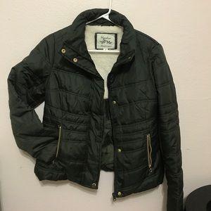 Maralyn & Me Jackets & Blazers - Maralyn & Me green bomer jacket Size M