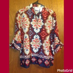 Alfred Dunner Tops - Alfred Dunner blouse misses size 10