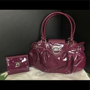 Salvatore Ferragamo Handbags - Salvatore Ferragamo Marisa Patent Leather Set