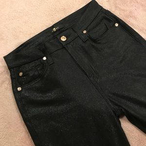 Black & rose gold high waisted 7FAMK jeans