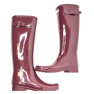 Hunter Shoes - HUNTER burgundy rain boots