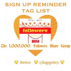 REMINDER TAG LIST ONLY FOR 1 Million Share Group
