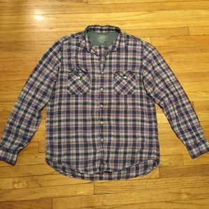 J. Crew Other - J Crew madras plaid button up casual shirt - Large
