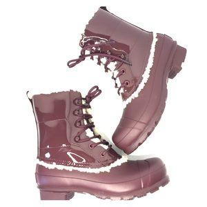 Hunter Shoes - HUNTER burgundy winter boots
