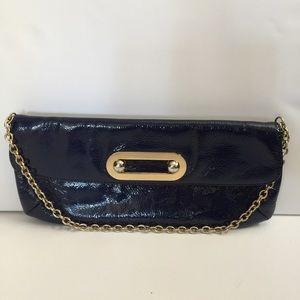 HOBO Handbags - Authentic HOBO International Navy Leather Clutch