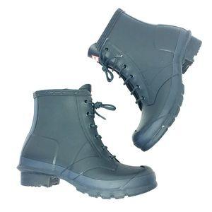 Hunter Shoes - HUNTER forest green short rain boots