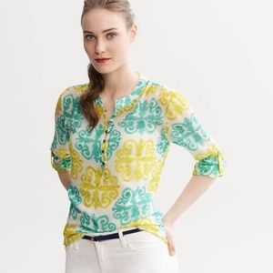 Milly Tops - Banana Republic Milly collection Medallion Blouse