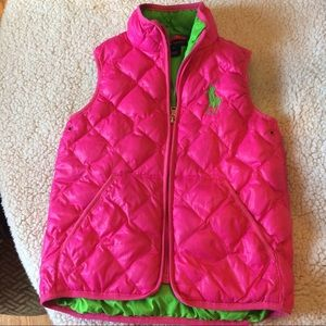 Ralph Lauren Other - Ralph Lauren polo girls vest pink sz 6 EUC