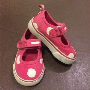 Gymboree Other - Gymboree Pink & White Polka Dot Sneakers