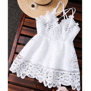Tops - Trendy Peplum White women's Crochet Top