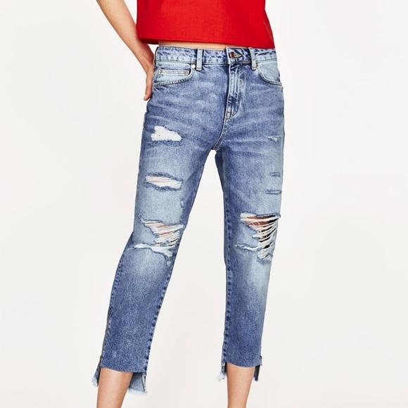b0f829f7 ZARA Trafaluc Denimwear high rise ripped jeans 04.  M_59019b075a49d0e967013129