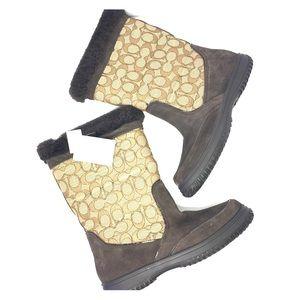 Coach Shoes - COACH brown winter boots
