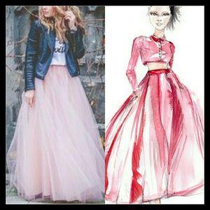 Betsy & Adam Dresses & Skirts - 🌸Beautiful Princess Satin/ Tulle Skirt🌸