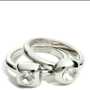 Coach Jewelry - Coach Stone Ring Set