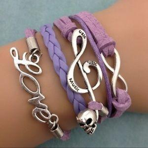 Jewelry - Friendship Bracelet Infinity Music Skull Love