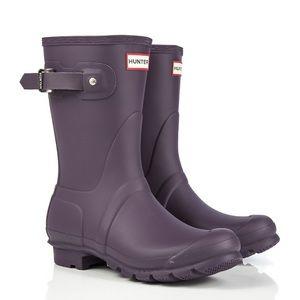 Hunter Short Rain Boot NIB + Hunter Wellie Socks