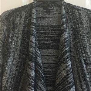 a.n.a Sweaters - Black/silver/gray cardigan
