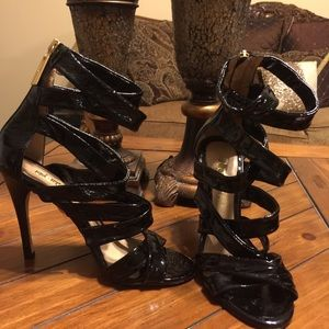 L.A.M.B patent leather Gladiator Heels