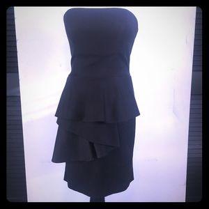 bebe Dresses & Skirts - Bebe Strapless Cascading Side Ruffle Dress