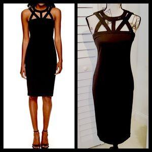 Spense Dresses & Skirts - NWT Sleeveles Black Bodycon Midi Dress