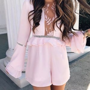 Goodnight Macaroon  Dresses & Skirts - Goodnight Macaroon Pink Jessica Romper, S