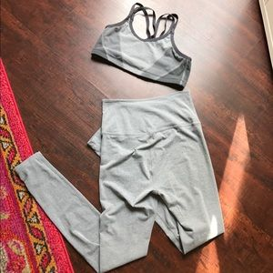 Beyond Yoga Pants - Beyond yoga super soft grey set