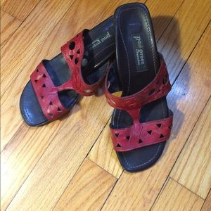 Paul Green Shoes - Sandals Red