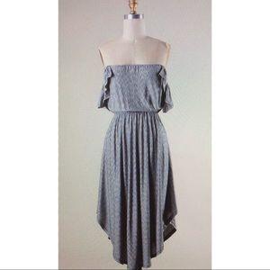 Pinstriped print shirt dress sz S M L NWOT